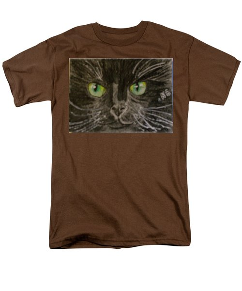Men's T-Shirt  (Regular Fit) featuring the painting Halloween Black Cat I by Kathy Marrs Chandler