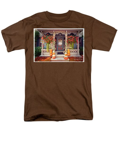 Halloween In A Small Town Men's T-Shirt  (Regular Fit) by Mary Machare