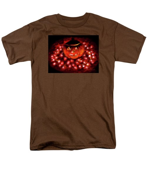 Men's T-Shirt  (Regular Fit) featuring the painting Halloween Lights by Jean Pacheco Ravinski