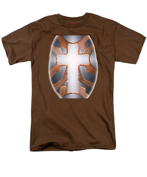 Hands Cross T-shirt Men's T-Shirt  (Regular Fit) by Herb Strobino