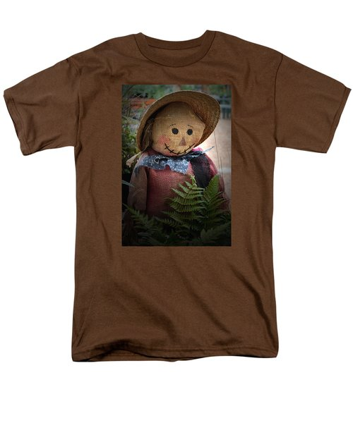 Men's T-Shirt  (Regular Fit) featuring the photograph Happy Scarecrow by Karen Harrison