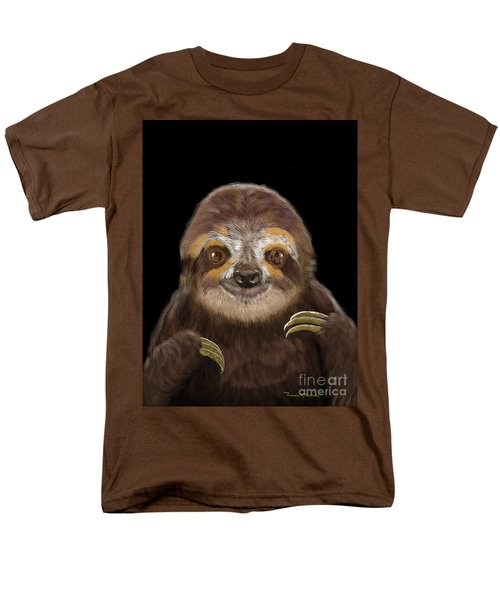 Happy Sloth Men's T-Shirt  (Regular Fit) by Thomas J Herring