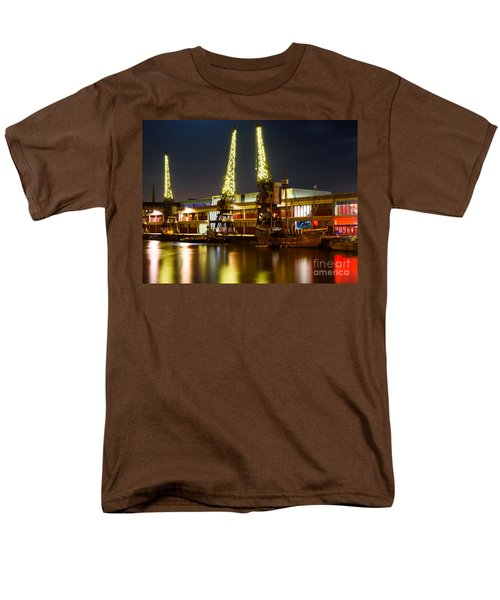 Harbour Cranes Men's T-Shirt  (Regular Fit) by Colin Rayner