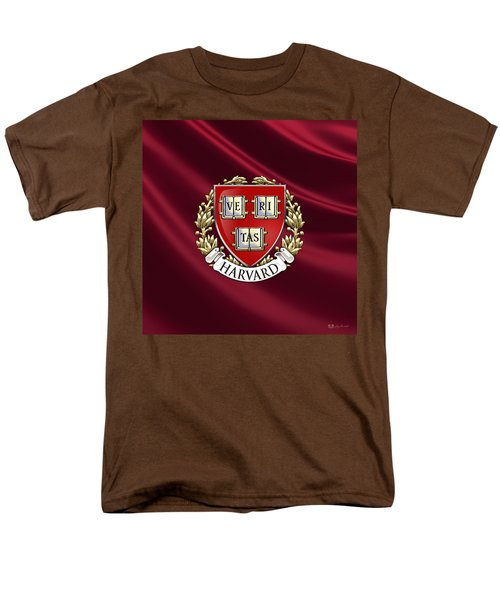 Harvard University Seal Over Colors Men's T-Shirt  (Regular Fit) by Serge Averbukh