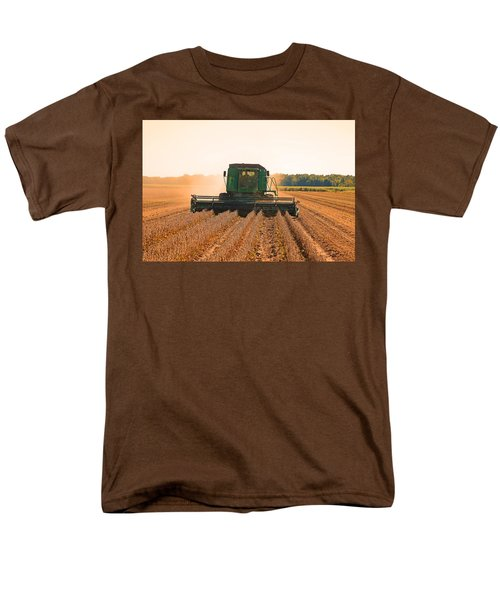 Harvesting Soybeans Men's T-Shirt  (Regular Fit) by Ronald Olivier