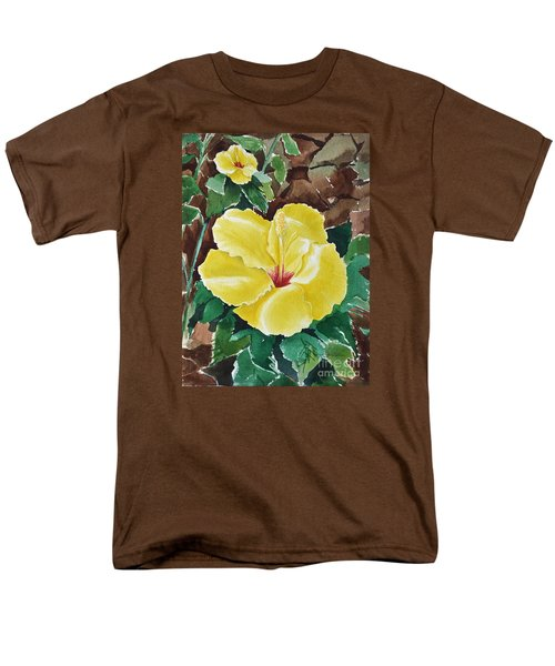 Hawaiian Hibiscus Men's T-Shirt  (Regular Fit) by Joan Hartenstein