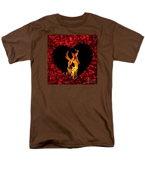 Heart On Fire  Men's T-Shirt  (Regular Fit) by Mindy Bench