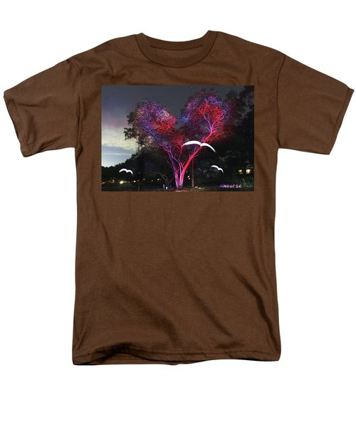 Heart Tree And Birds Men's T-Shirt  (Regular Fit) by Andrew Nourse