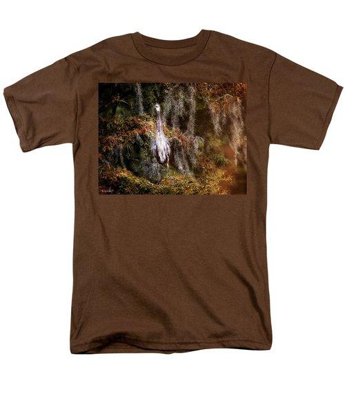 Heron Camouflage Men's T-Shirt  (Regular Fit) by Phil Mancuso
