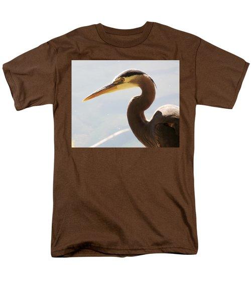Heron Headshot Men's T-Shirt  (Regular Fit) by Karen Molenaar Terrell