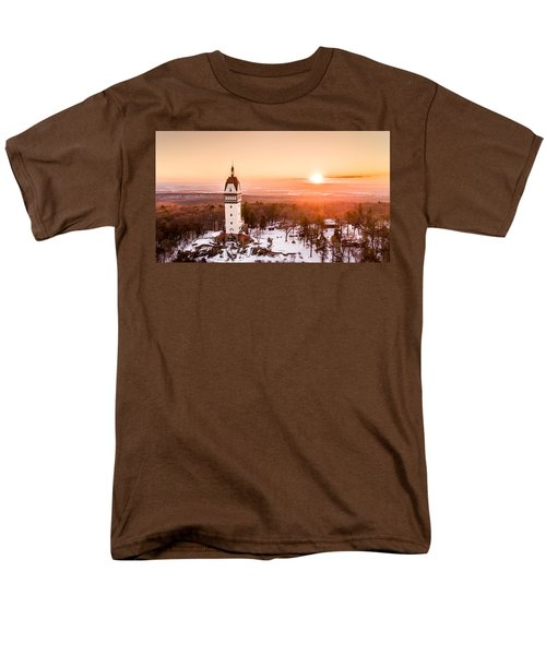 Heublein Tower In Simsbury Connecticut Men's T-Shirt  (Regular Fit) by Petr Hejl