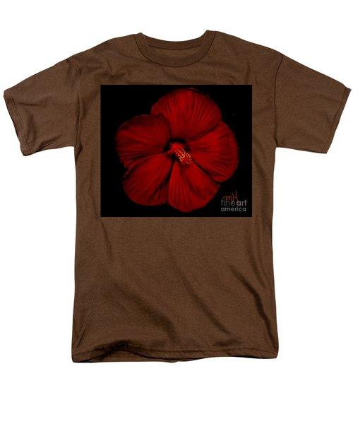 Hibiscus By Moonlight Men's T-Shirt  (Regular Fit)
