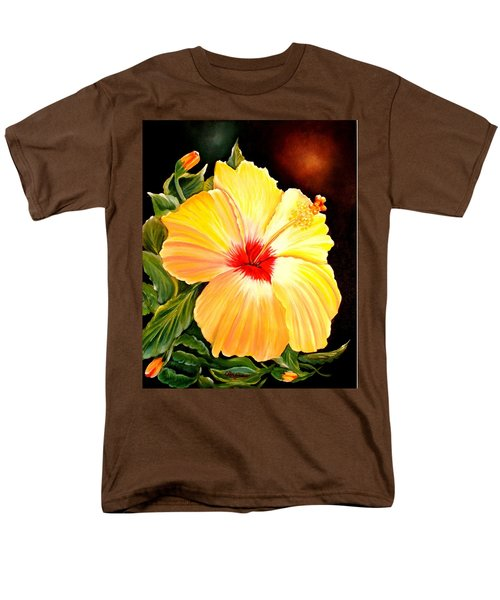 Hibiscus Glory Men's T-Shirt  (Regular Fit)