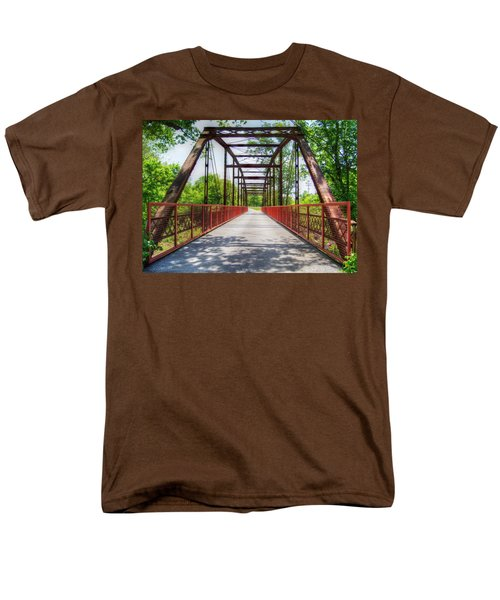 Hinkson Creek Bridge Men's T-Shirt  (Regular Fit) by Cricket Hackmann
