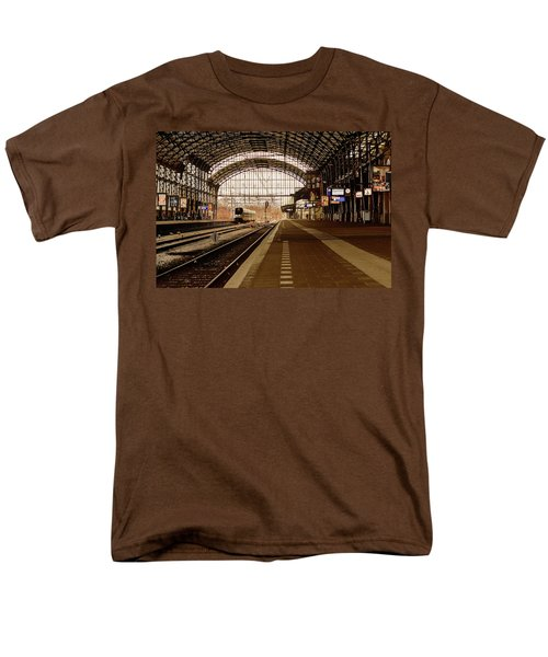 Historic Railway Station In Haarlem The Netherland Men's T-Shirt  (Regular Fit) by Yvon van der Wijk