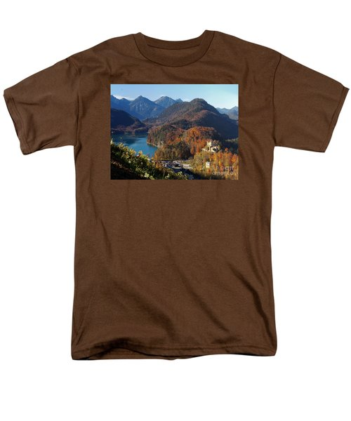 Hohenschwangau Castle And Alpsee In Bavaria Men's T-Shirt  (Regular Fit) by Rudi Prott