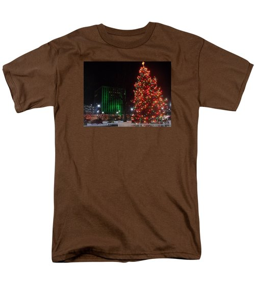 Holidays Downtown Men's T-Shirt  (Regular Fit) by Christina Verdgeline