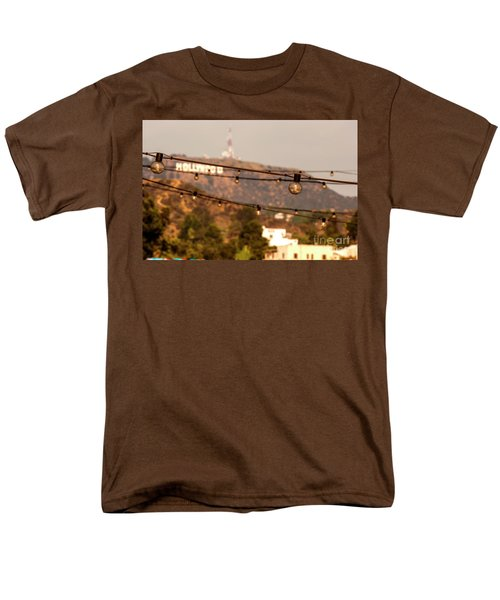 Men's T-Shirt  (Regular Fit) featuring the photograph Hollywood Sign On The Hill 5 by Micah May