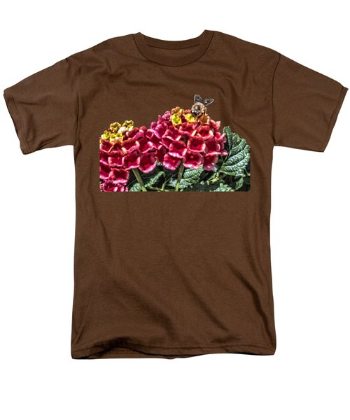 Honey Bee On Flower Men's T-Shirt  (Regular Fit) by Daniel Hebard
