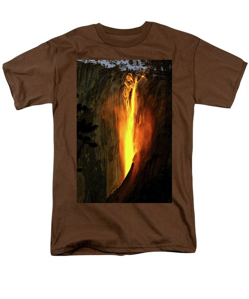 Horse Tail Fall Aglow Men's T-Shirt  (Regular Fit) by Greg Norrell