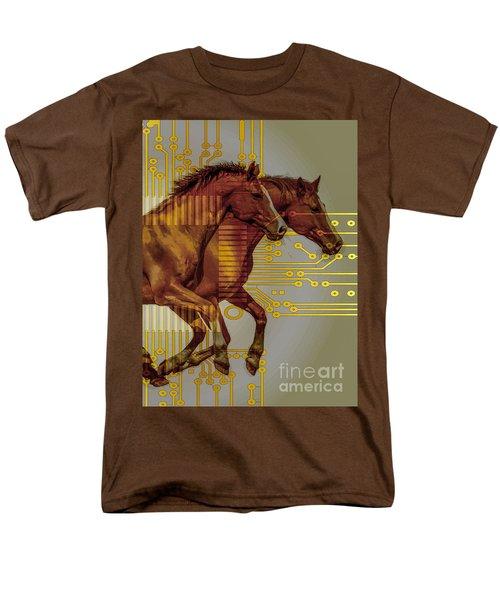 The Sound Of The Horses. Men's T-Shirt  (Regular Fit) by Moustafa Al Hatter