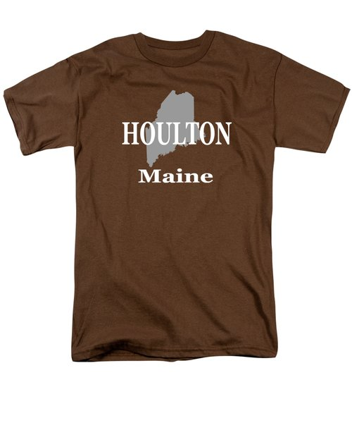 Men's T-Shirt  (Regular Fit) featuring the photograph Houlton Maine State City And Town Pride  by Keith Webber Jr