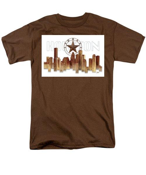Houston Texas Skyline Men's T-Shirt  (Regular Fit) by Doug Kreuger