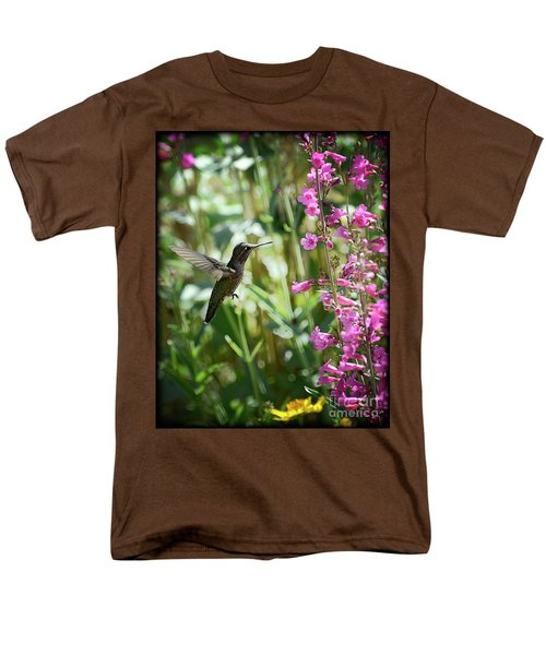 Hummingbird On Perry's Penstemon Men's T-Shirt  (Regular Fit) by Saija  Lehtonen