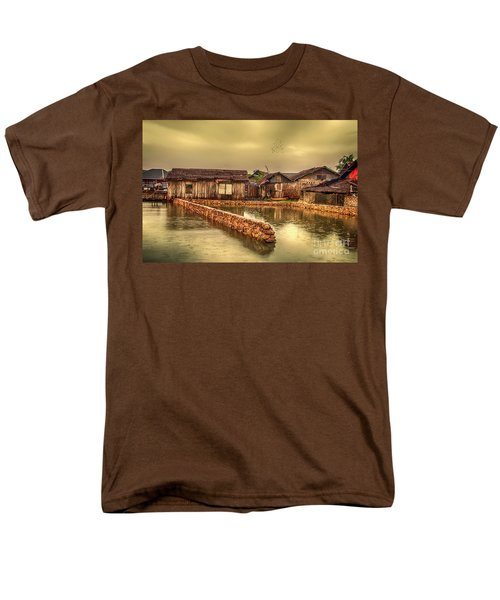 Men's T-Shirt  (Regular Fit) featuring the photograph Huts 2 by Charuhas Images