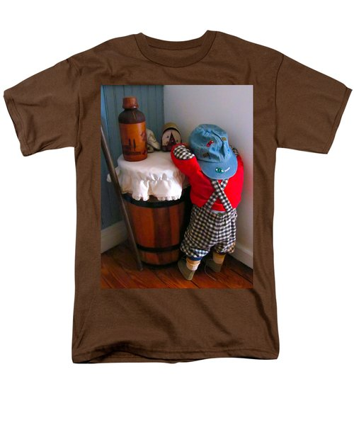 Men's T-Shirt  (Regular Fit) featuring the painting I Shouldn't Have Done It by Lanjee Chee