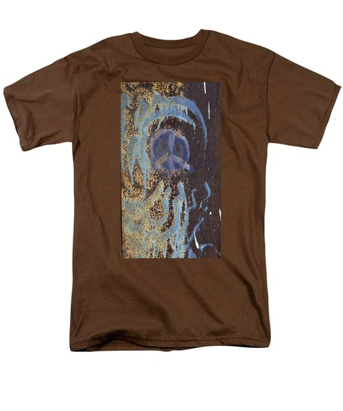 I Wish You Peace - Graffiti Men's T-Shirt  (Regular Fit) by Jane Eleanor Nicholas