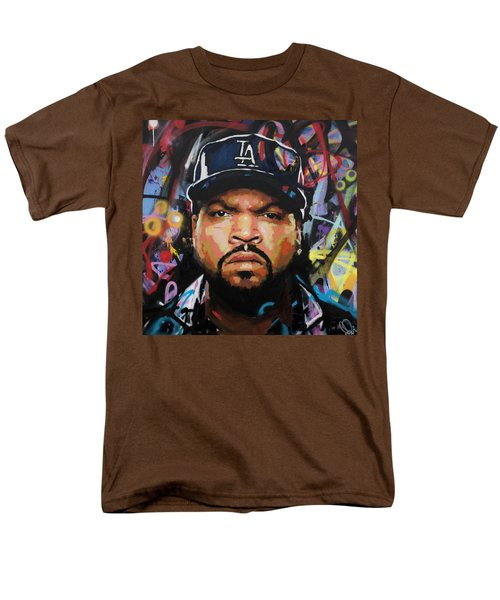 Men's T-Shirt  (Regular Fit) featuring the painting Ice Cube by Richard Day