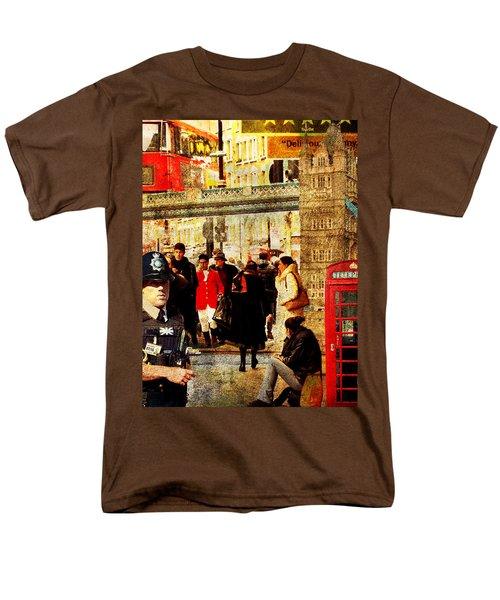 Iconic London Men's T-Shirt  (Regular Fit) by Judi Saunders