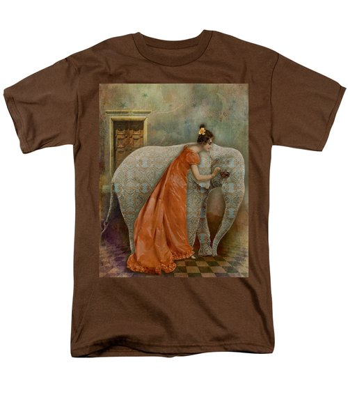 If Elephants Were Painted Men's T-Shirt  (Regular Fit) by Lisa Noneman