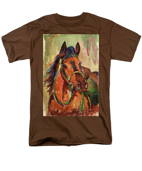 Impressionist Horse Men's T-Shirt  (Regular Fit) by Janet Garcia
