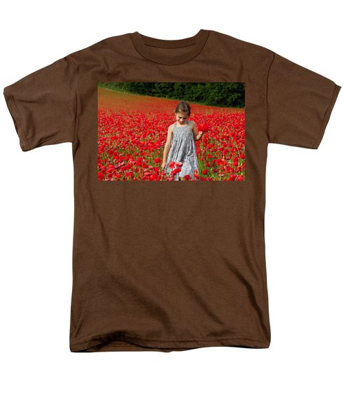In A Sea Of Poppies Men's T-Shirt  (Regular Fit) by Keith Armstrong