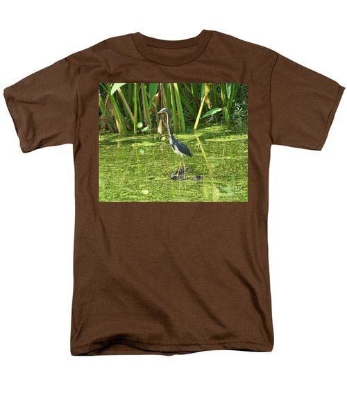 Men's T-Shirt  (Regular Fit) featuring the photograph In Green Soup by Carol  Bradley