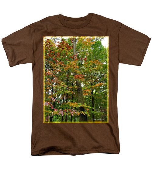 Men's T-Shirt  (Regular Fit) featuring the photograph In The Height Of Autumn by Joan  Minchak