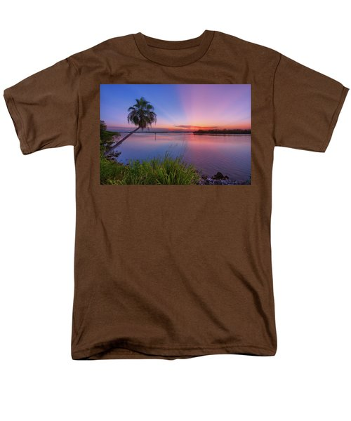 Men's T-Shirt  (Regular Fit) featuring the photograph Indian River State Park Bursting Sunset by Justin Kelefas