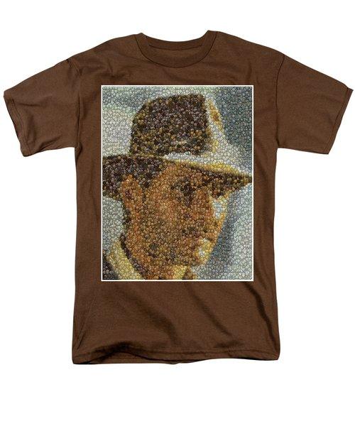Men's T-Shirt  (Regular Fit) featuring the mixed media Indiana Jones Treasure Coins Mosaic by Paul Van Scott