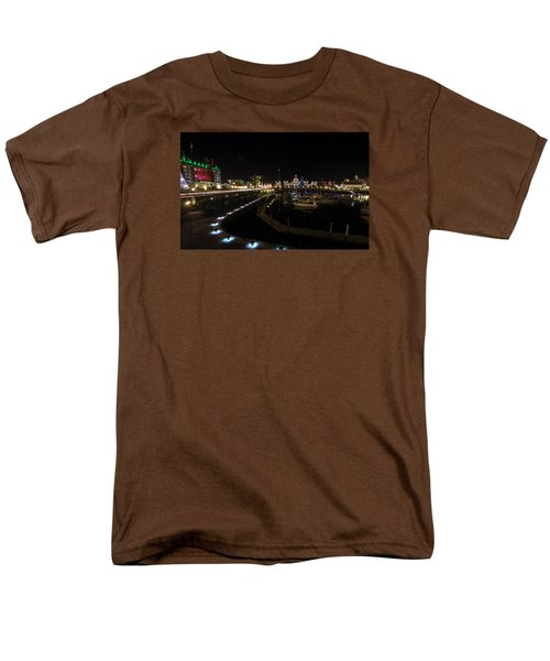 Inner Harbour Of Victoria Bc Men's T-Shirt  (Regular Fit) by Marilyn Wilson