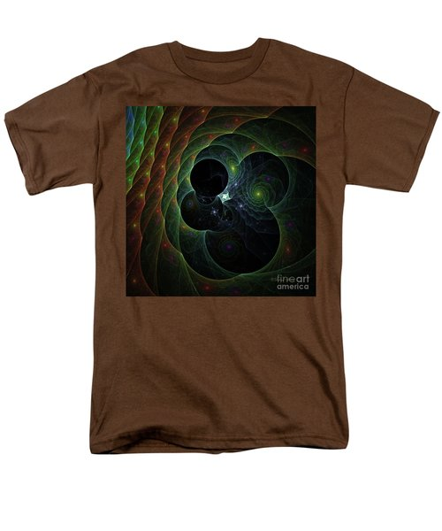 Men's T-Shirt  (Regular Fit) featuring the digital art Into Space And Time by Deborah Benoit