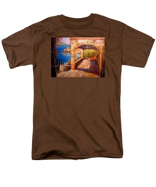 Italian Villa  Men's T-Shirt  (Regular Fit) by Alan Lakin