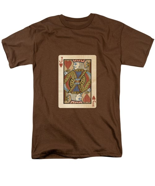Jack Of Hearts In Wood Men's T-Shirt  (Regular Fit) by YoPedro