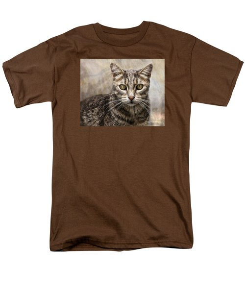 Men's T-Shirt  (Regular Fit) featuring the digital art Janie's Kitty by Rhonda Strickland