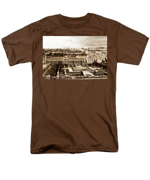 Men's T-Shirt  (Regular Fit) featuring the photograph Jeronimos Monastery In Sepia by Lorraine Devon Wilke