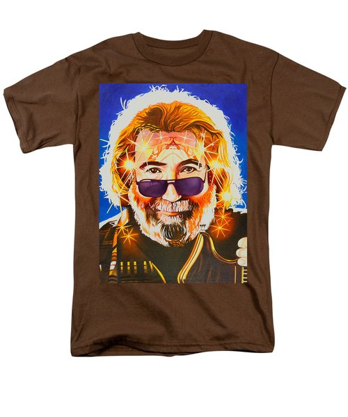 Men's T-Shirt  (Regular Fit) featuring the painting Jerry Garcia-dark Star by Joshua Morton