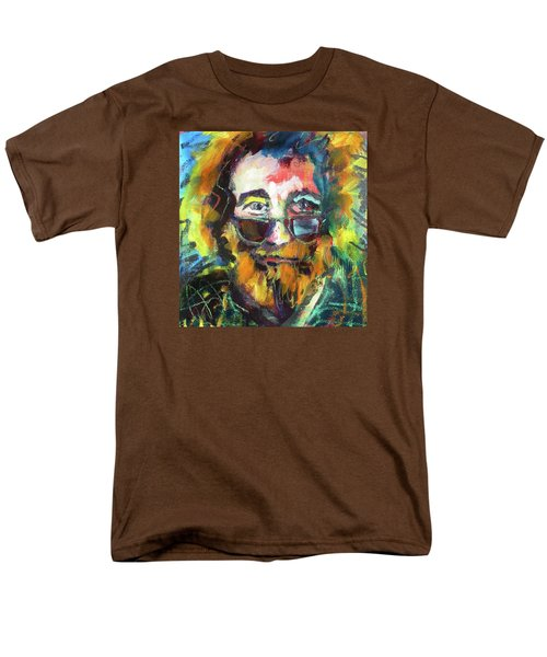 Jerry Garcia Men's T-Shirt  (Regular Fit) by Les Leffingwell