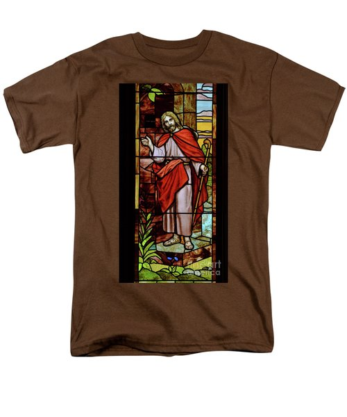Men's T-Shirt  (Regular Fit) featuring the photograph Jesus Knocking by Debby Pueschel