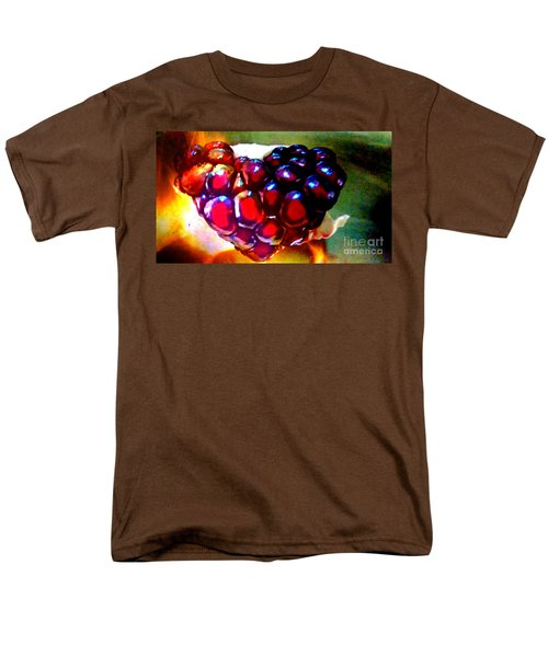 Men's T-Shirt  (Regular Fit) featuring the painting Jeweled Heart In Light And Dark by Genevieve Esson
